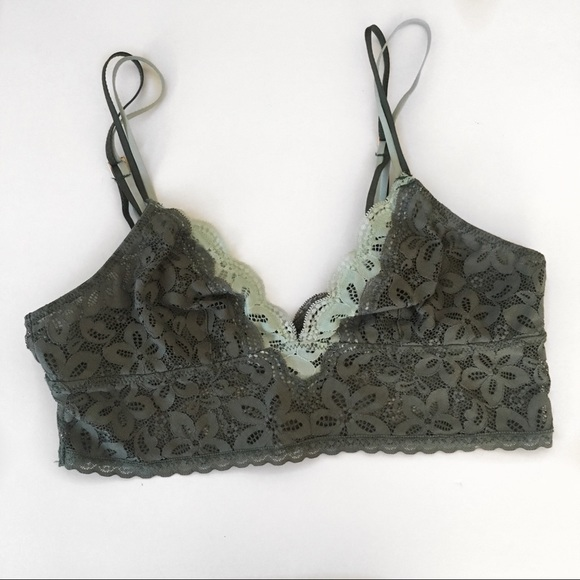 2f7715eb85c aerie Other - Olive Green Lace Bralette
